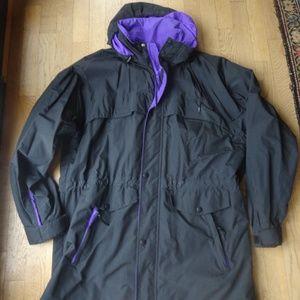 Lands Ends Men's Regular Black Nylon Jacket Size L
